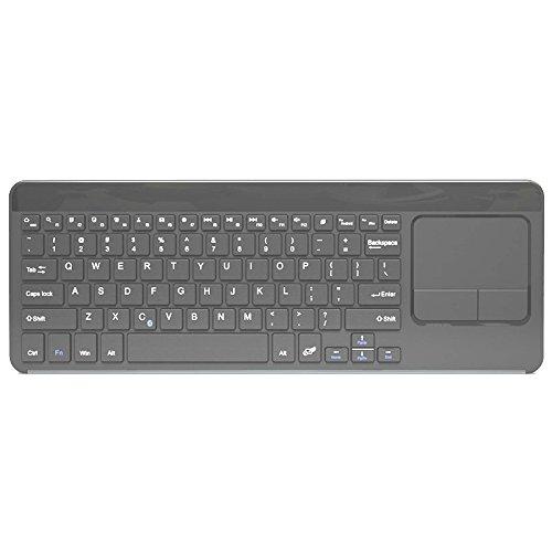 EIMOLIFE® drahtlose Bluetooth QWERTZ Deutsche Version Tastatur und Multi Touchpad für Windows, Linux, Android Tablets und Smartphones, Batteriebetriebene