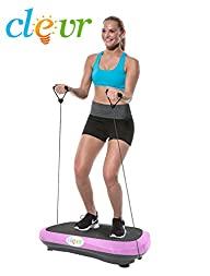 Ultraslim Pink Crazy Fit Full Body Vibration Platform Massage Machine Fitness