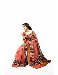 First Loot Designer Party Wear Raw Silk Peach Saree -2368