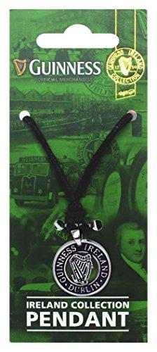 pendentif-de-la-collection-guinness-irlande-avec-design-de-harpe-argentee