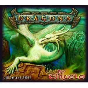 Dragons by Ciruelo 2011 Daily Box Calendar