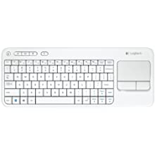 Logitech Wireless Touch Keyboard K400 With Built-in Multi-Touch Touchpad - White (920-005878)