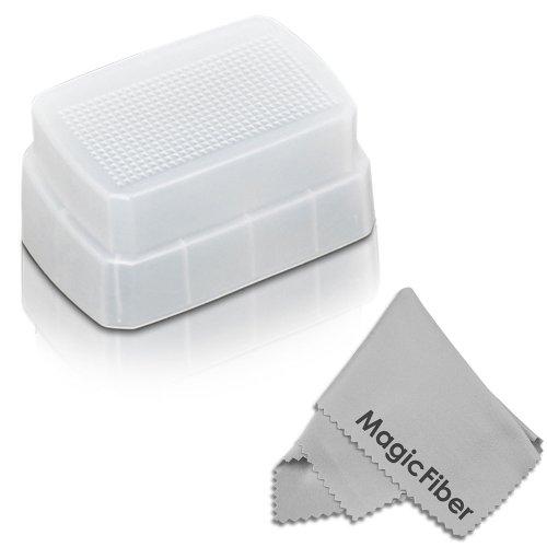 Best  Flash Bounce Dome Diffuser for METZ MZ 52311C 52AF-1 Digital Flash + MagicFiber Microfiber Lens Cleaning Cloth