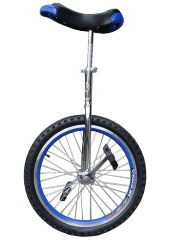 Fantasycart-24-Unicycle-Cycling-In-Out-Door-Chrome-Blue-with-skidproof-tire