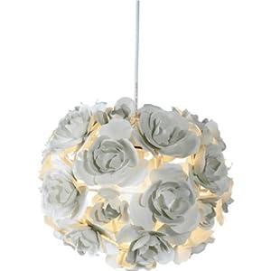 Essentialz Emma Rose Flower Ball Light Pendant Cream