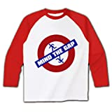 MIND_THE_GAP ラグラン長袖Tシャツ(ホワイト×レッド) M