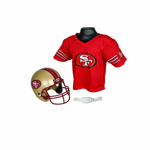 NFL San Francisco 49ers Replica Youth Helmet and Jersey Set at Amazon.com