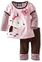 Mini Bean Baby-girls Newborn 2 Piece Dog Legging Set