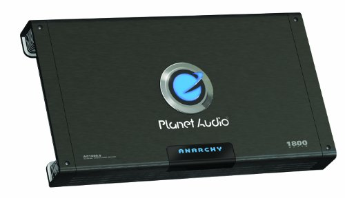 Planet Audio Ac1800.5 Mosfet Five-Channel Power Amplifier, 300 Watts X 4, 600 Watts X 1 Max Power