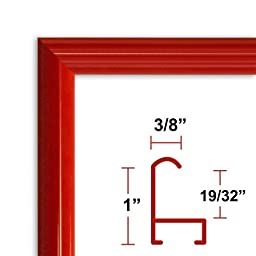 14 x 22 Red Poster Frame - Profile: #15 Custom Size Picture Frame