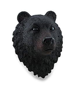 Realistic Black Bear Head Wall Mounted Statue
