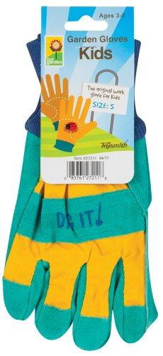 Toysmith Kids Garden Gloves, Assorted Colors, Small front-1050875