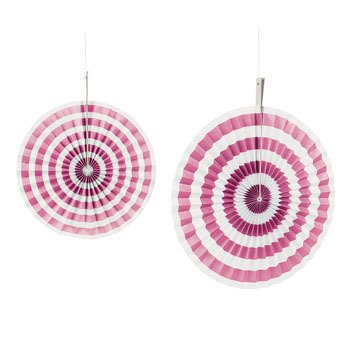 Candy Pink Stripe Hanging Fans