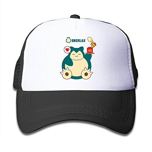 Bro-Custom Cute Hungry Snorlax Boy's Sun Protection Hat Cap One Size Fit All Black (Dyson Bed Tool compare prices)