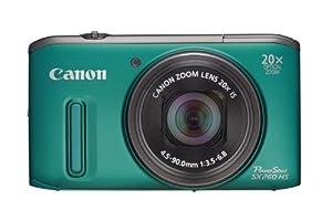 Canon Powershot SX260 HS GPS Digital Camera - Green (12.1 MP, 20x Optical Zoom) 3.0 Inch LCD