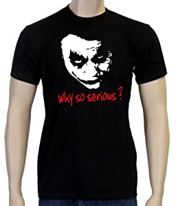 Coole-Fun-T-Shirts Herren T-shirt Why So Serious ? Joker, Schwarz, L, 10868 by Coole-Fun-T-Shirts