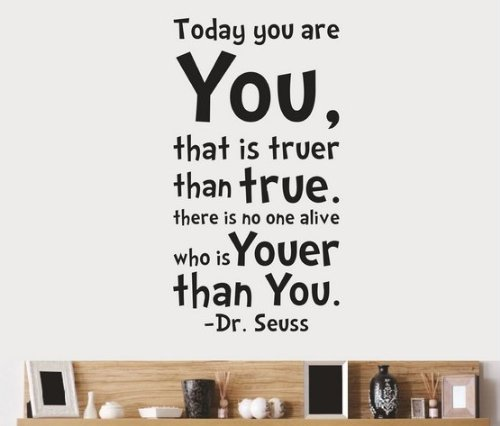 Toprate(Tm) Dr Seuss Today You Are You Wall Decal Art Vinyl Decals Stickers Love Kids Bedroom Children'S Bedroom Nursery Home Decal front-56126
