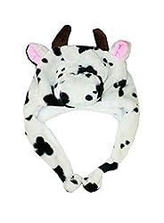 Cow (Us Seller)New Hooded Cap Hat Plush Beanie Fleece Winter