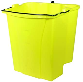 Rubbermaid Commercial FG9C7400YEL Dirty Water Bucket for WaveBrake Combos, 4.5-Gallon Capacity, Yellow
