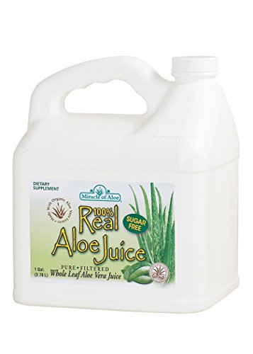 Real Aloe Juice , Miracle of Aloe, Made From Organically Grown Aloe Vera Leaves 100% Purified & Filtered , 1 Gallon, Livera seltzer, liveraseltzer orange megaclienteDietary Supplement (Organic Raw Aloe Vera Juice compare prices)