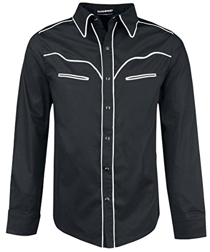 Banned White Trim Camicia nero L