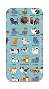 Amez designer printed 3d premium high quality back case cover for Samsung Galaxy S7 Edge (Cat Names)