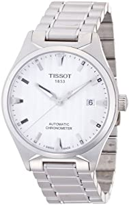 Tissot T-Tempo COSC Chronometer Silver Dial Mens Watch T0604081103100