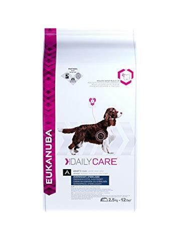 Artikelbild: Eukanuba Daily Care Overweight Trockenfutter (für übergewichtige, kastrierte oder sterilisierte erwachsene Hunde, Spezial-Premiumfutter für jede Rasse mit Huhn), 2,5 kg Beutel