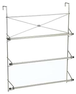 Zenna Home 2526NN, Cross Style Towel Rack, Satin Nickel