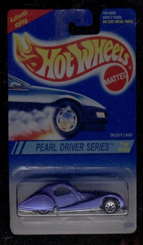 Hot Wheels 1995-295 Talbot Lago Pearl Driver Series 1 of 4 Blue Card 1:64 Scale - 1