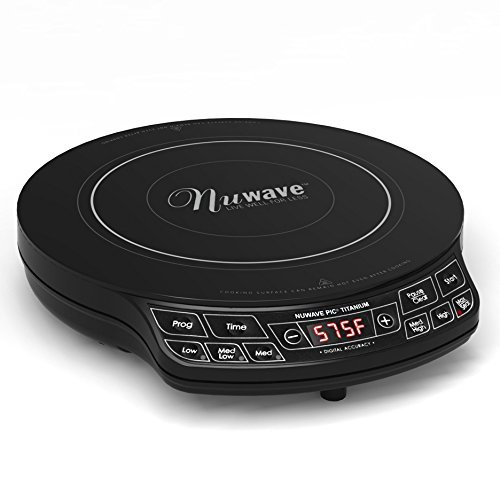 Cooktop Premium Induction Nuwave Portable Smooth Surface Single Kitchen Cookware in Titanium Black (Cooktop Premium compare prices)