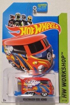 2014 Hot Wheels Hw Workshop Volkswagen Kool Kombi - Red [Ships in a Box!]