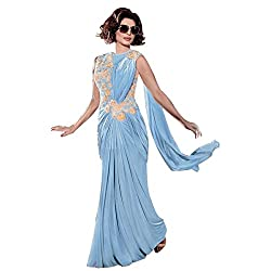 INDO-WESTERN INDIAN DESIGNER BOLLYWOOD GOWN DUPATTA PARTY WEAR BRIDAL WEDDING