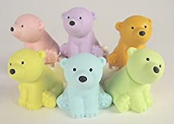 Animal Japanese Iwako Puzzle Polar Bear Eraser 6pcs New 2013 38248