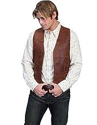 Scully Men\'s Western Lamb Vest Brown 40 R