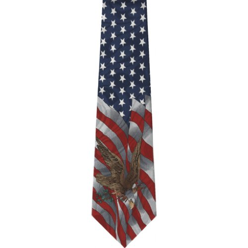CTC-Gifts-Mens-USA-Flag-and-Eagle-Neck-Tie-Patriotic-Multi-colored