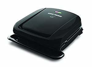 2X George Foreman GRP1060B 4 Serving Removable Plate Grill, Black