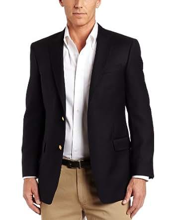Tommy Hilfiger Men's Two Button Side Vent Trim Fit Blazer,  Navy, 38 Regular