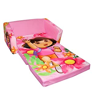 Marshmallow Fun Furniture Flip Open Sofa With Slumber Attachment: Dora Theme