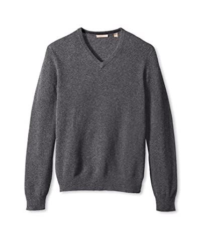 Cashmere Addiction Men's Solid V-Neck Sweater