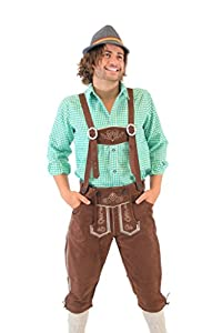 Oktoberfest German Bavarian Lederhosen Costume Pants (34)