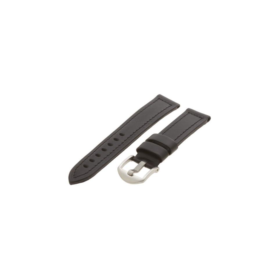 42ca11af95d Hadley Roma Mens MSM905RA 200 20 mm Black Genuine Leather Watch Strap
