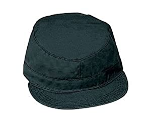 Black Military Fatigue Cap (Polyester/Cotton) 9340 Size 2XL Regular