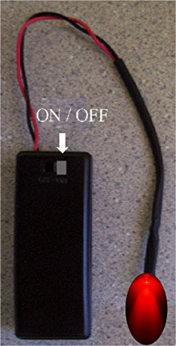 RED Flashing LED Auto Theft Deterrent - Fake Car Alarm System Flasher - Battery operated by 2 AAA - On/Off switch - Available in 7 color choices - 2 Window Warning Decals (Car Battery Alarm compare prices)