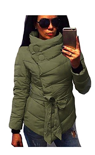 ETCYY-Womens-Stand-Collar-With-Belt-Light-Weight-Short-Down-Coat