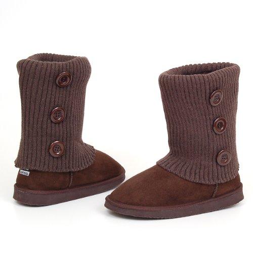 womens adele rib knit crochet sweater boots flats mid calf