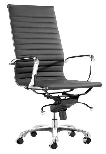 Leatherette Office Chair - Lider Hi Back Office Chair - Zuo Modern - 205191