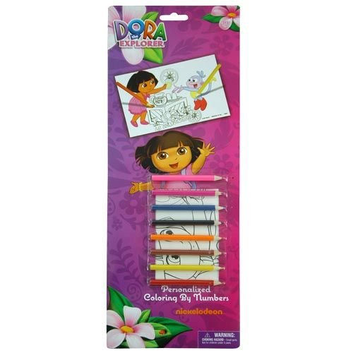 WeGlow International Dora the Explorer Color by Numbers Set (Set of 2) - 1