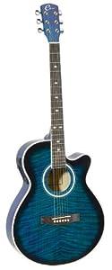Eleca Guitars DAG-8CEQ-BLS Quilted Top, Mini Jumbo, Acoustic Electric Guitar from Eleca International Inc.