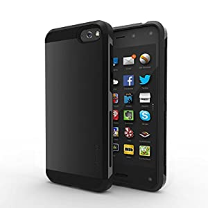 Fintie Amazon Fire Phone Case Cover - CaseBot Mighty Shield Series [Anti-Slip Air Padding Shockproof] Retail Packaging - Black